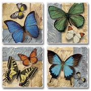 August Grove Flutter By Tumbled Coaster (Set of 4)