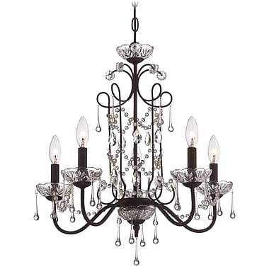Astoria Grand Mclaurin 5-Light Crystal Chandelier