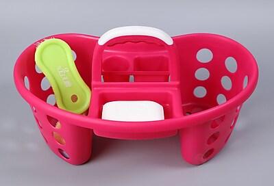Basicwise Portable 15.75'' Tool Box; Pink