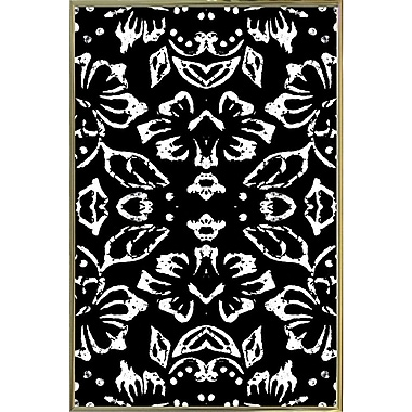 Bungalow Rose 'Black & White Pattern' Graphic Art Print; Metal Gold Framed