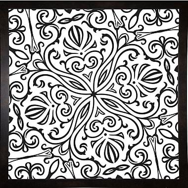 Bungalow Rose 'Suriah II' Graphic Art Print; Black Medium Framed