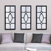 Alcott Hill Mercersburg Window Wall Accent Mirror; Black