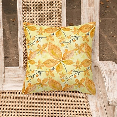 Alcott Hill Mifflinville Fall Leaves and Branches Outdoor Throw Pillow