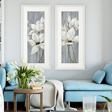 Alcott Hill 'Silver Spring' 2 Piece Framed Acrylic Painting Print Set
