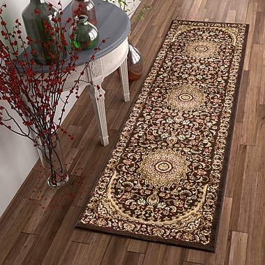 Astoria Grand Colindale Traditional French Country Oriental Persian Brown Area Rug; 5'3'' x 7'3''