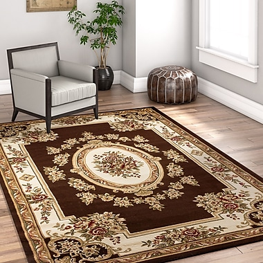 Astoria Grand Colindale Traditional Medallion Brown Area Rug; 2'3'' x 3'11''