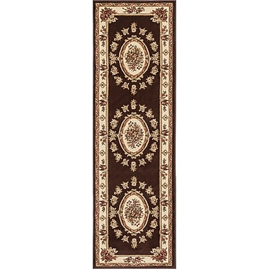 Astoria Grand Colindale Traditional Medallion Brown Area Rug; 2'3'' x 7'3'' Runner