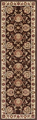 Astoria Grand Colindale Traditional Soft Oriental Brown Area Rug; 2'3'' x 7'3'' Runner