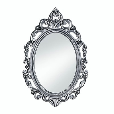 Astoria Grand Gerstle Royal Crown Wall Mirror; Silver