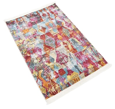 Bungalow Rose Yearsley Red/Beige/Blue Area Rug; Rectangle 2'2'' x 3'