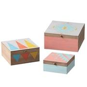 Bungalow Rose Tribal Nested 3-Piece Box Set