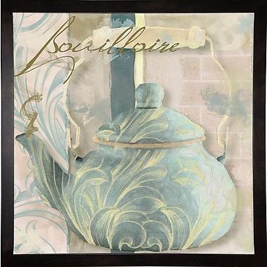 Bloomsbury Market 'Pots Bleus I' Graphic Art Print; Cafe Espresso Framed