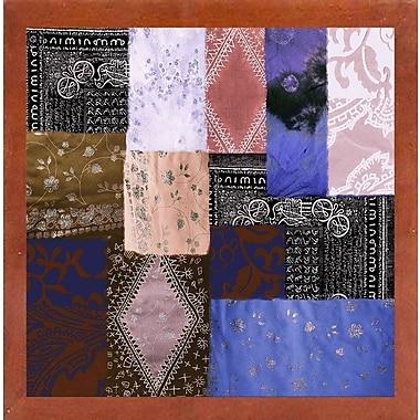 Bloomsbury Market 'Afrikan Batik IV' Graphic Art Print; Canadian Walnut Medium Framed
