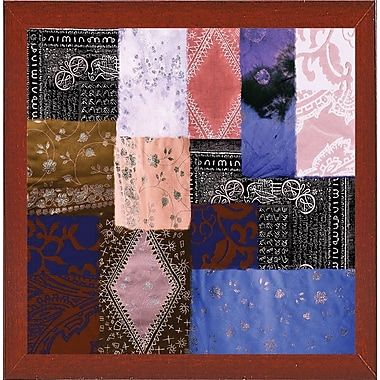 Bloomsbury Market 'Afrikan Batik IV' Graphic Art Print; Red Mahogany Medium Framed