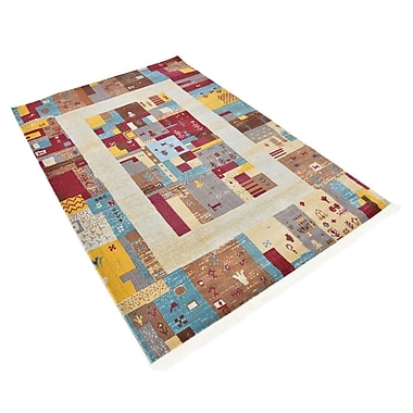 Bloomsbury Market Rolling Hills Estates Yellow/Red/Brown Southwestern Area Rug; Rectangle 4'3'' x 6'
