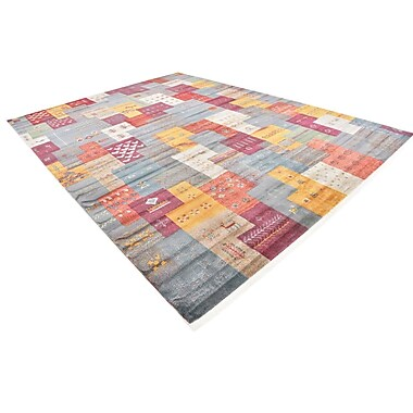 Bloomsbury Market Rolling Hills Estates Rustic Yellow/Red/Blue Area Rug; Rectangle 10' x 13'