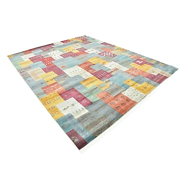 Bloomsbury Market Rolling Hills Estates Rustic Yellow/Red/Blue Area Rug; Rectangle 8'2'' x 10'