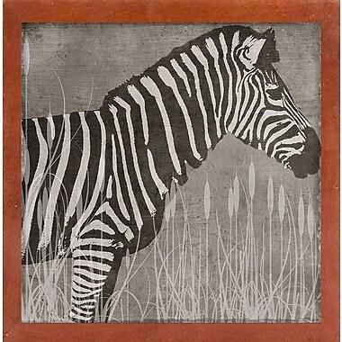 Bloomsbury Market 'Zebra' Graphic Art Print; Canadian Walnut Medium Framed
