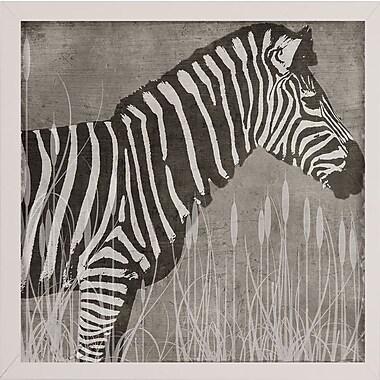 Bloomsbury Market 'Zebra' Graphic Art Print; White Medium Framed