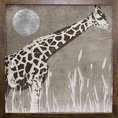 Bloomsbury Market 'Moon Giraffe' Graphic Art Print; Cafe Mocha Framed