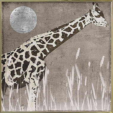 Bloomsbury Market 'Moon Giraffe' Graphic Art Print; Metal Gold Framed