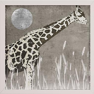 Bloomsbury Market 'Moon Giraffe' Graphic Art Print; White Medium Framed