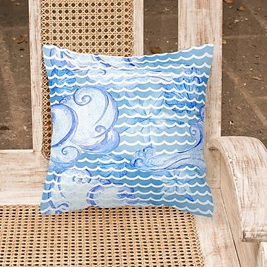 Breakwater Bay Miramar Beach Abstract Waves Outdoor Throw Pillow