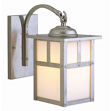 Charlton Home Biali 1 Light Outdoor Wall Lantern; Stainless Steel