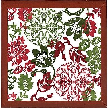 Charlton Home 'Woodlands Christmas I' Graphic Art Print; Red Mahogany Medium Framed