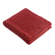 Brielle Glamour Throw; Red/Gold