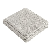 Brielle Glamour Throw; Gray/Sliver