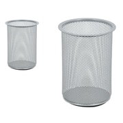 Staples® Mesh Giant Pencil Cup, Silver (HON11966-CA)