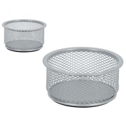 Staples® Mesh Cup Doodad Small, Silver (HON12649-CA)