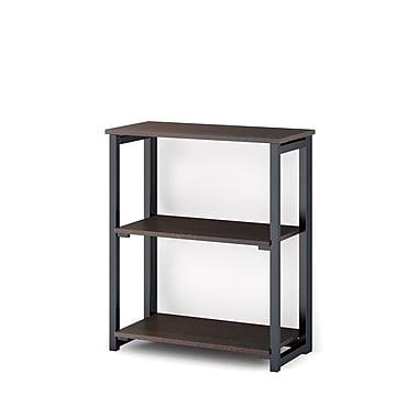 Whalen – Bibliothèque ouverte pliable FOLDZ à 2 tablettes, espresso, 23,5 x 11,5 x 27,75 (po) (SPCA-FZ2B)