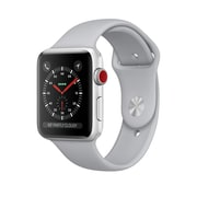 Apple Watch Series 3, 38mm, GPS, Silver Aluminum Case with Fog Sport Band, (MQKU2CL/A)