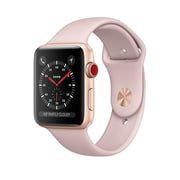 Apple – Montre Apple Watch Series 3, GPS, boîtier aluminium or avec bracelet sport sable rose