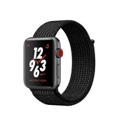 Apple Watch Nike+ 38mm, GPS + Cellular, Space Grey Aluminium Case with Black/Pure Platinum Nike Sport Loop, (MQL82CL/A)
