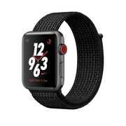 Apple Watch Nike+ Series 3, 42mm, GPS + Cellular, Silver Aluminum Case with Pure Platinum/Black Nike Sport Loop, (MQLE2CL/A)