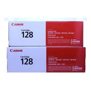 Canon 128 Black Toner Cartridge, 2/Pack (3500B001AA)