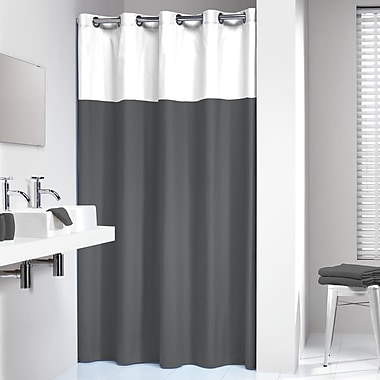 Corrigan Studio Travon Shower Curtain; Gray