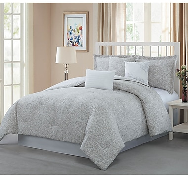Darby Home Co McGuire 7 Piece Reversible Comforter Set; King