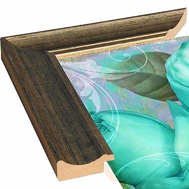 Ebern Designs 'Aqua Rose II' Graphic Art Print; Paper