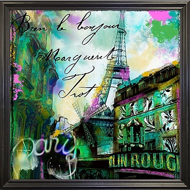 Ebern Designs 'To Paris w/ Love II' Graphic Art Print; Black Grande Framed