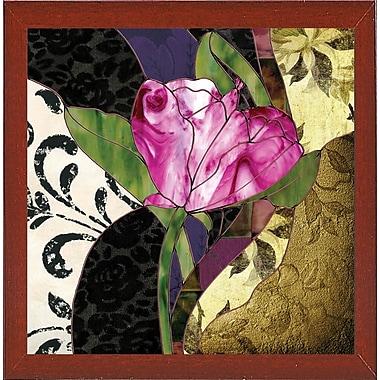 Ebern Designs 'Glassberry IV' Graphic Art Print; Red Mahogany Medium Framed