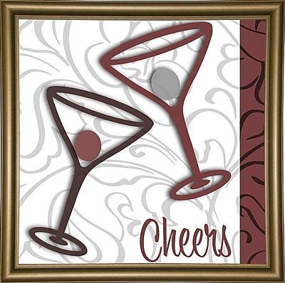 Ebern Designs 'Cheers II' Graphic Art Print; Bistro Gold Framed
