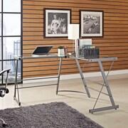 Ebern Designs Bankston Glass L Shape Corner Desk