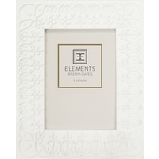 Elements by Erin Gates Embossed Decorative Edge Picture Frame; 6'' x 4''