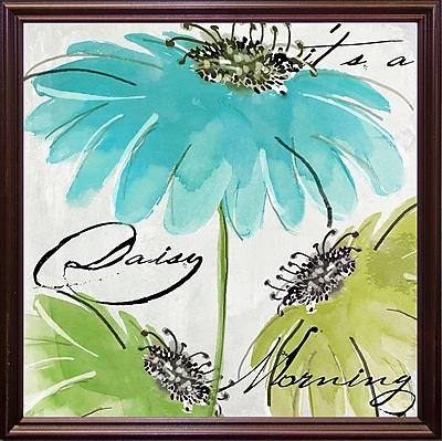 August Grove 'Daisy Morning II' Print; Cherry Grande Framed