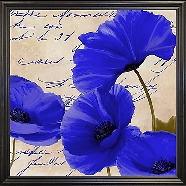 August Grove 'Coquelicots Bleues I' Graphic Art Print; Paper