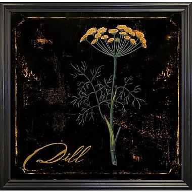 Gracie Oaks 'Black Gold Herbs I' Graphic Art Print; Black Grande Framed